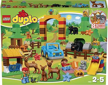 Конструктор Lego DUPLO TOWN Лесной заповедник 10584 lego lego duplo 10831 моя веселая гусеница