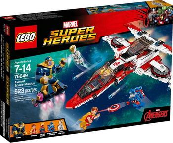Конструктор Lego SUPER HEROES Реактивный самолёт мстителей: космическая миссия 76049 lego lego super heroes 76031 разгром халкбастера