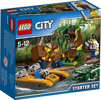 Конструктор Lego CITY JUNGLE EXPLORER НАБОР «ДЖУНГЛИ» ДЛЯ НАЧИНАЮЩИХ 60157 lego lego city 60106 набор для начинающих пожарная охрана