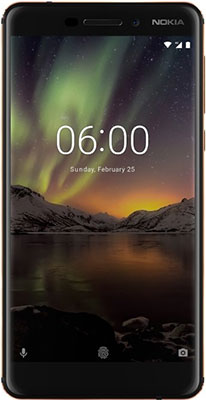 Смартфон Nokia 6.1 (2018) 32 GB Dual Sim черный relaxgo 5 android touch car dvr gps navigation rearview mirror car camera dual lens wifi dash cam full hd 1080p video recorder
