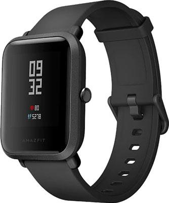 Часы Xiaomi Amazfit Bip черный смарт часы xiaomi amazfit bip 1 28 оранжевый синий [uyg4022rt]