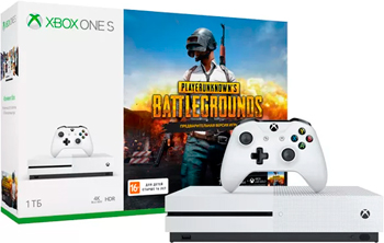 Игровая приставка Microsoft Xbox One S 1 ТБ + PlayerUnknown's код + XboxLiveGold 1м. + Game Pass 1м + геймпад (комплект) game console gamepad sticker full body for xbox one blue