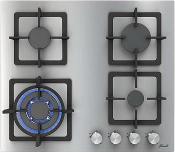 Встраиваемая газовая варочная панель FORNELLI PGT 60 CALORE IX газовая варочная панель fornelli pgt 60 calore ix