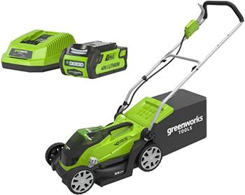 Колесная газонокосилка Greenworks 40 V G 40 LM 35 K6 2501907 UF газонокосилка аккумуляторная greenworks g max g40lm35 40 в 35 см комплект