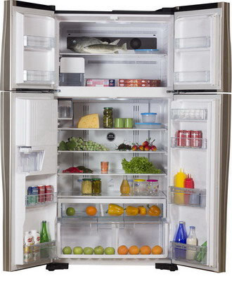 Холодильник Side by Side Hitachi R-W 662 FPU3X GGR hitachi r w 662 pu3 ggr графитовое стекло