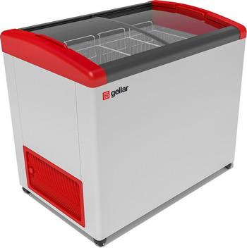 Морозильный ларь Gellar FG 350 E красный цена