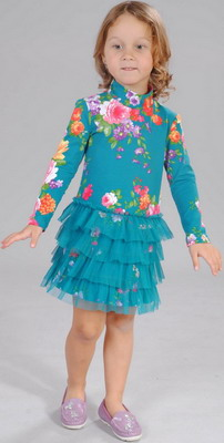 Платье Fleur de Vie 24-2260 рост 110 м.волна