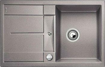 Кухонная мойка BLANCO METRA 45 S-F алюметаллик с клапаном-автоматом кухонная мойка blanco metra 6 s f алюметаллик с клапаном автоматом