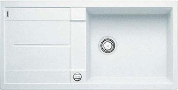 Кухонная мойка BLANCO METRA XL 6 S-F белый с клапаном-автоматом кухонная мойка blanco metra 6 s f алюметаллик с клапаном автоматом