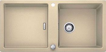 Кухонная мойка BLANCO ADON XL 6S SILGRANIT шампань с клапаном-автоматом кухонная мойка blanco adon xl 6s silgranit белый с клапаном автоматом