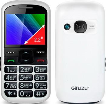 Мобильный телефон Ginzzu R 12 D белый мобильный телефон ginzzu r12 белый