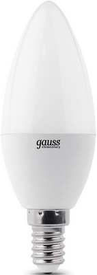 Лампа GAUSS LED Elementary Candle 10 W E 14 2700 K 33110