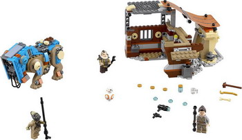 Конструктор Lego STAR WARS Столкновение на Джакку 75148 конструктор бумажный star wars blueprints escape pod desert pack более 30 деталей