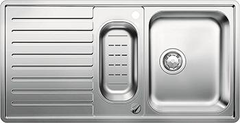 Кухонная мойка BLANCO 523665 CLASSIC PRO 6 S-IF нерж.сталь зерк.полировка с клапаном-автоматом InFino мойка classic pro 45 s if 516842 blanco