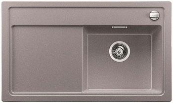 Кухонная мойка BLANCO ZENAR 45 S (чаша справа) алюметаллик с кл.-авт. InFino мойка кухонная blanco zenar 45s чаша справа белый с клапаном автоматом 519255