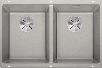 Кухонная мойка BLANCO SUBLINE 350/350-U SILGRANIT жемчужный с отв.арм. InFino 523577 мойка subline 350 150 u cer basalt 516976 blanco