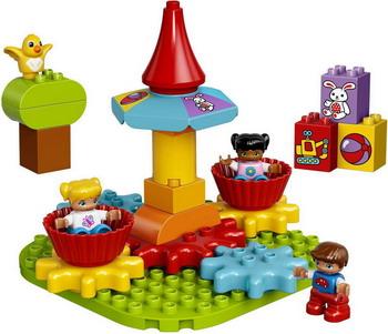 Конструктор Lego DUPLO Моя первая карусель 10845 lego lego duplo 10831 моя веселая гусеница