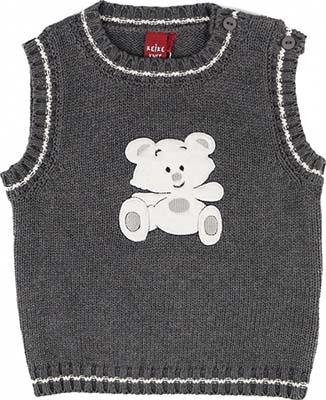 Жилет Reike knit BB-17 74-48(24) штанишки для мальчика мамуляндия маленький принц цвет серо коричневый 17 310 размер 74