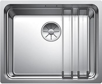Кухонная мойка BLANCO ETAGON 500 - IF нерж.сталь зеркальная полировка без клапана автомата 521840 кухонная мойка blanco andano 340 if без клапана автомата 522953 518307