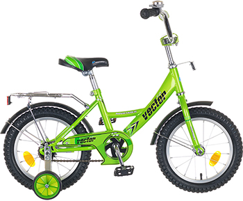 Велосипед Novatrack 14'' Vector  зелёный 143 VECTOR.GN5 велосипед novatrack 143 vector rd5 14 vector красный