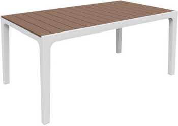 Стол Keter Harmony белый/каппучино стол сундук circa storage rattan table 132l keter