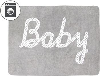 Ковер Lorena Canals с надписью Baby серый 120*160 C-BABY-G