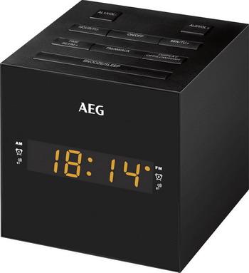 Будильник AEG MRC 4150 schwarz цены