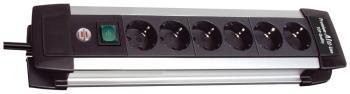 Удлинитель Brennenstuhl Premium-Alu-Line 3м. 6 роз/заземл (1391000016) удлинитель настольный brennenstuhl alu office line 4 гн с заземл алюм корпус 1 8 м выключатель