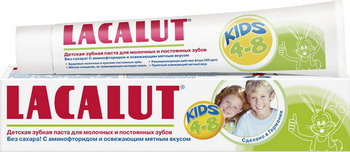 Зубная паста Lacalut Kids 4-8 лет для молочных и постоянных зубов 50мл цена 2017