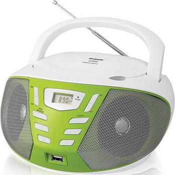 Магнитола BBK BX 193 U белый/зеленый
