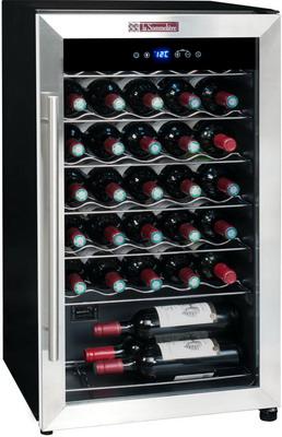 Винный шкаф LaSommeliere LS 34 A чёрный с серебристой рамкой