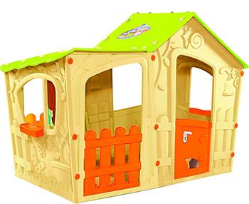 Домик игровой Keter Magic Villa Play House 17190655/БЕЖ 24th diy wooden dollhouse 3d model kit miniatures doll house large villa