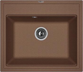 Кухонная мойка Florentina Липси-600 600х510 мокко FSm мойка кухонная florentina липси 780к мокко fsm 20 250 d0780 303