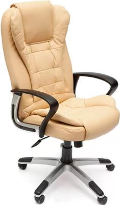 Офисное кресло Tetchair BARON (кож/зам бежевый/бежевый перфорированный 36-34/36-34/06) кресло tetchair runner кож зам ткань черный жёлтый 36 6 tw27 tw 12
