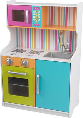 Деревянная игровая кухня KidKraft ''Делюкс Мини'' (Bright Toddler Kitchen) 53378_KE игровая кухня kidkraft большой интерактив цв белый 53369 ke