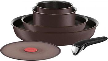 Набор посуды со съемной ручкой Tefal Ingenio Chefs L 6559902 цена