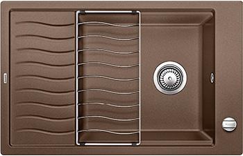 Кухонная мойка BLANCO ELON XL 6S SILGRANIT мускат с клапаном-автоматом inFino 524842 кухонная мойка blanco elon xl 6s silgranit темная скала с клапаном автоматом infino 524835