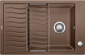Кухонная мойка BLANCO ELON XL 6S SILGRANIT мускат с клапаном-автоматом inFino 524842 мойка blanco elon xl 6 s silgranit 518744 кофе размер шхд 78см х 50см