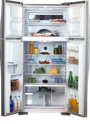 Холодильник Side by Side Hitachi R-W 662 PU3 INX hitachi r w 662 pu3 ggr графитовое стекло