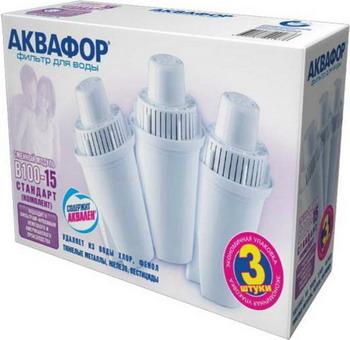 Сменный модуль для систем фильтрации воды Аквафор В100-15 (комплект 3 шт) сменный модуль для систем фильтрации воды аквафор в 510 12