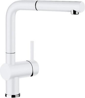 Кухонный смеситель BLANCO LINUS-S КЕРАМИКА глянцевый белый смеситель для кухни blanco linus s керамика черный