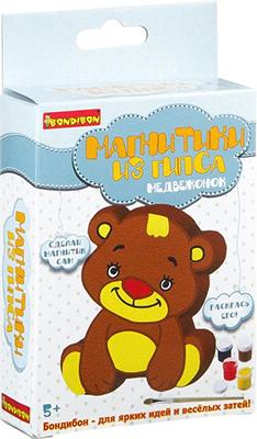 Набор для декорирования Bondibon Магнитик из гипса медвежонок ВВ2012 lori магниты из гипса клуб микки мауса lori