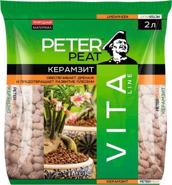 Керамзит PETER PEAT VITA фракция 5-10 2л галька морская бежевая фракция 5 10 мм 1 кг