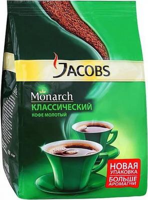 Кофе молотый Jacobs Monarch натуральный жареный молотый 430 г (4251799/8050002) имбирь сушеный молотый золото индии 10 г