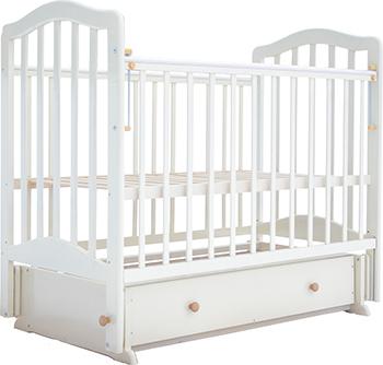 Детская кроватка Лаура 5  маятник поперечный  ящик   Слоновая кость лаура 3 маятник поперечный без ящика махагон