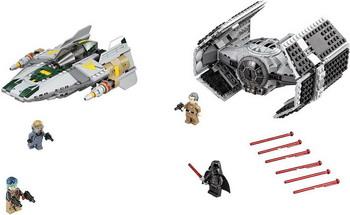 Конструктор Lego STAR WARS Истребитель Дарта Вейдера vs Истребитель A-Wing lego конструктор сид дарта вейдера против a wing star wars 75150