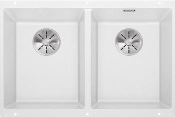 Кухонная мойка BLANCO SUBLINE 350/350-U SILGRANIT белый с отв.арм. InFino 523578 blanco statura 160 u