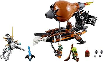 Конструктор Lego Ninjago Дирижабль-штурмовик 70603-L lego ninjago конструктор побег из тюрьмы криптариум 70591
