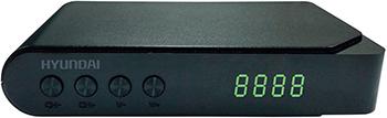Цифровой телевизионный ресивер Hyundai Hyundai H-DVB 200 T2 чёрный ресивер dvb t2 s2 rolsen rdb 902 dvb t2