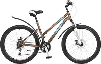 Велосипед Stinger 26'' Element lady D 15'' коричневый 26 AHD.ELEMLD.15 BN7 велосипед stinger element lady d 26 2016